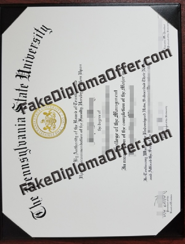 Buy PSU fake diploma certificate from USA
