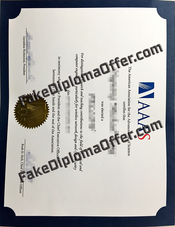 Purchase high quality AAAS fake certificate from USA