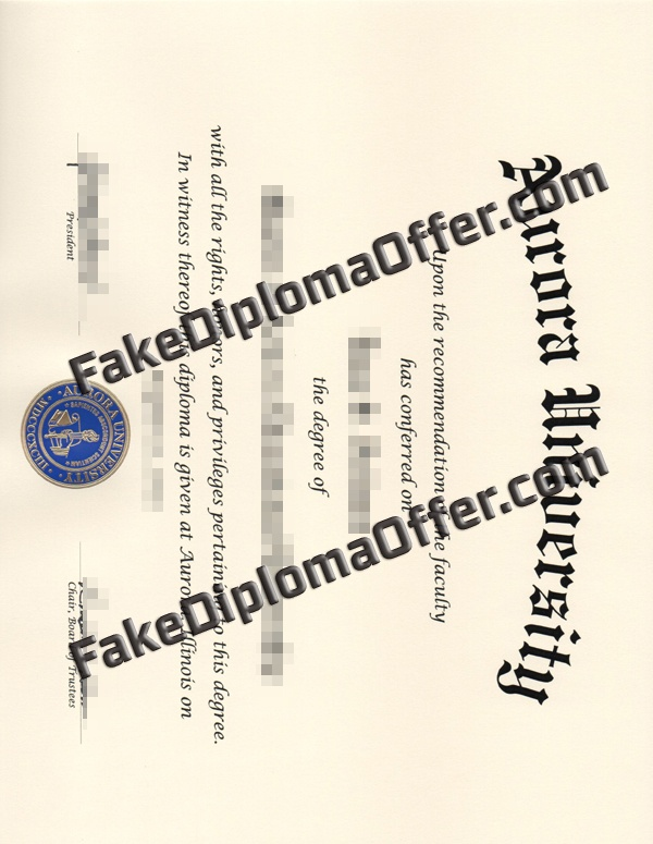 Purchase Aurora University fake diploma and transcript from USA
