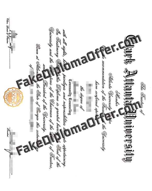 Get Clark Atlanta University fake diploma from USA