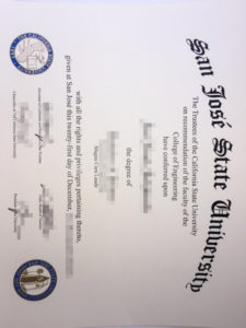 Purchase SJSU fake diploma and transcript from USA