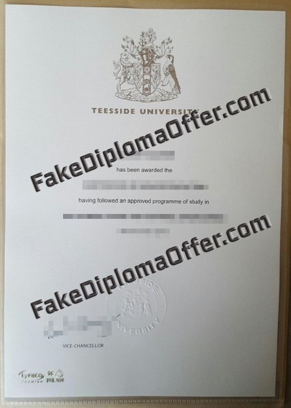 Good way to buy Teesside University fake diploma from England