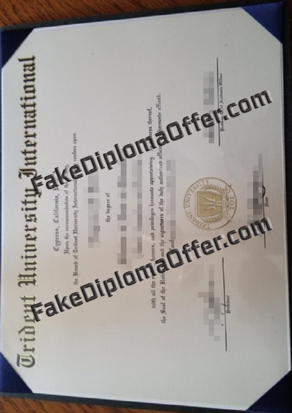 Buy Trident University International fake diploma from USA