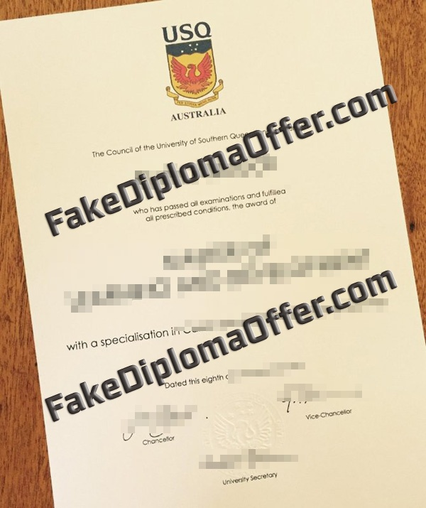 Purchase USQ fake diploma and transcript from AUS