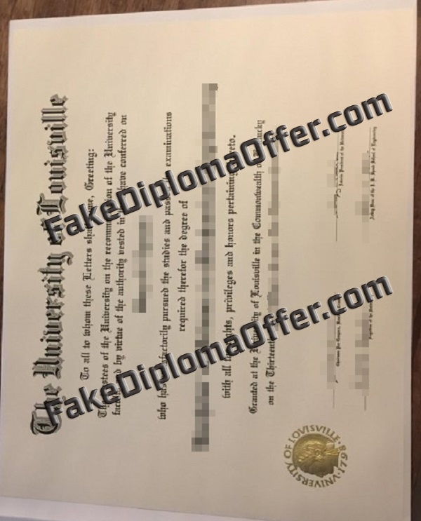 Purchase UofL fake diploma and transcript from USA