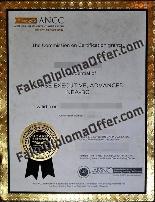American Nurses Credentialing Center, Buy ANCC fake certificate