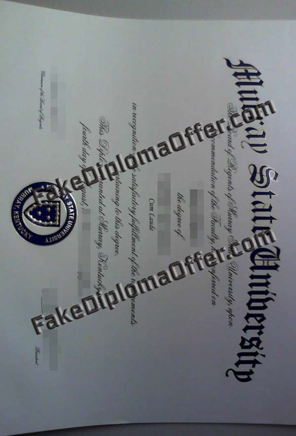 How To Oeder Fake Murray State University degree Certificate?